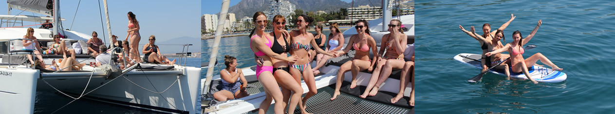 Bachelorette party on boat
